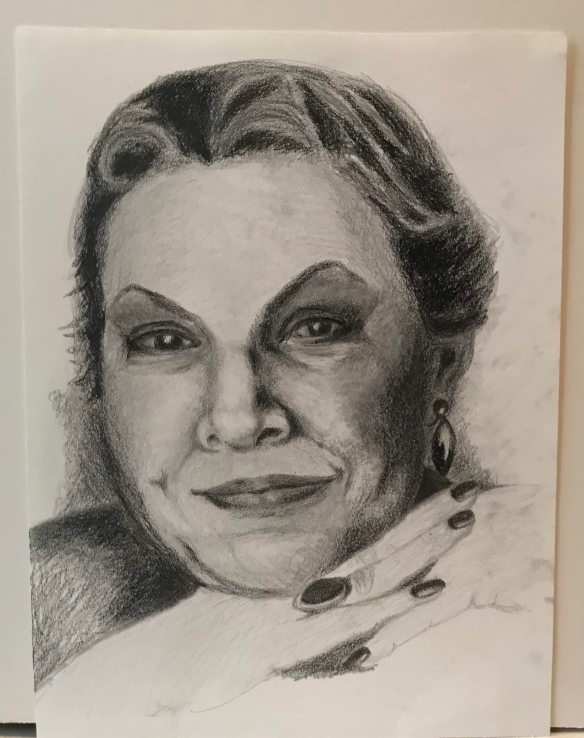 Pencil portrait of a woman