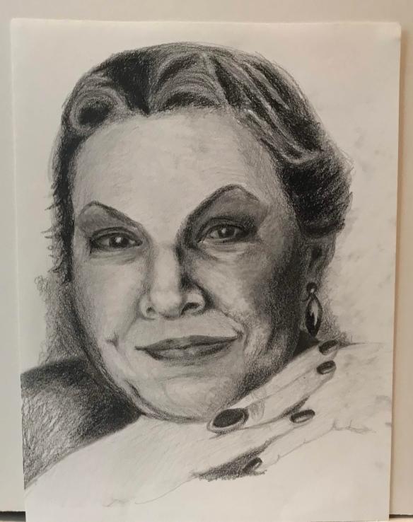 Pencil portrait of a woman