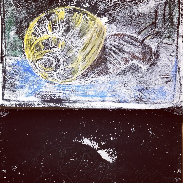 Monotype of a snail