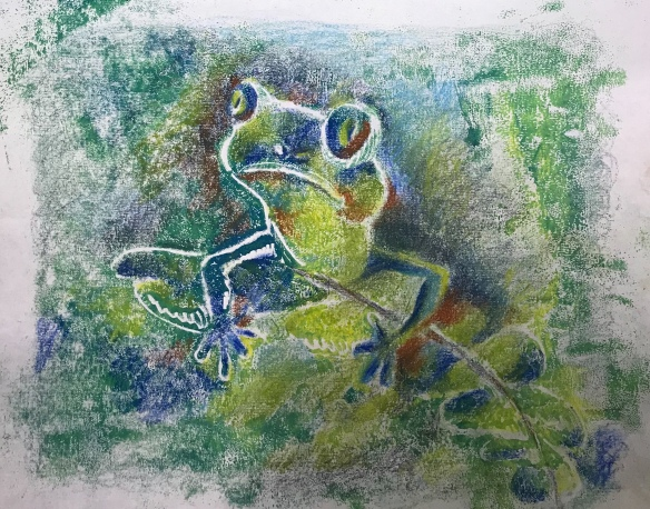 Print of a frog